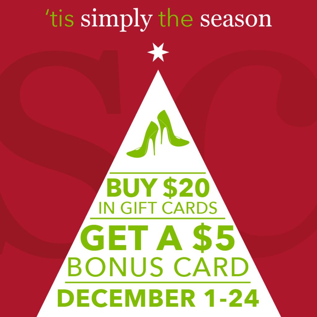 buy a $20 gift card get a $5 bonus card december 1-24