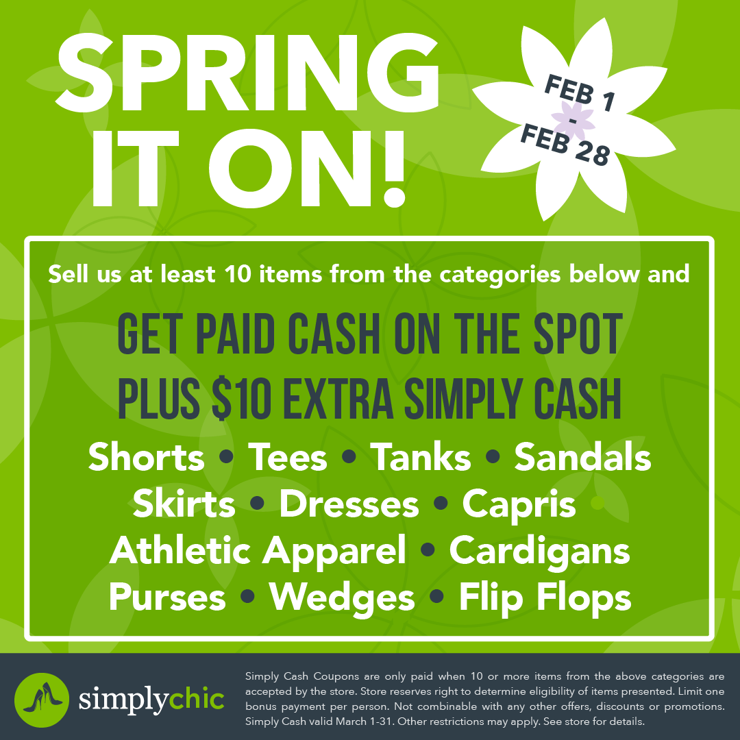 spring it on get paid cash on the spot plus $10 extra simply cash